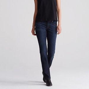 Eileen Fisher petite straight leg jean dark 0153